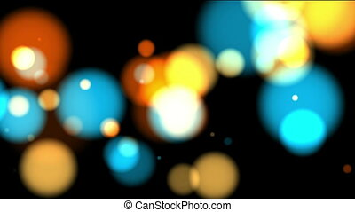 colorful bokeh - The appearance and disappearance of bright...