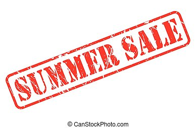 Summer sale red stamp text on white