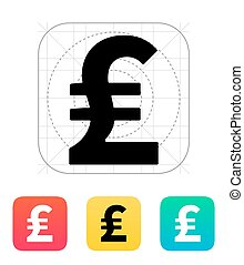 Pound sterling icon. Vector illustration.