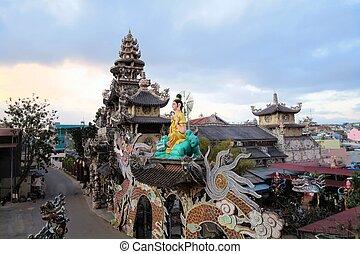 Linh Phuoc Buddhist pagoda, Da Lat, Lam Dong province, Vietnam
