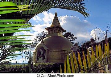 Golden Stupa at Tuyen Lam Buddhist Monastery, Dalat, Vietnam...