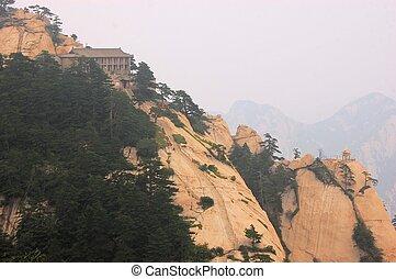 Temple at holy Mount Hua Shan, China