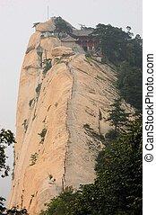 Steep cliff at holy Mount Hua Shan, China