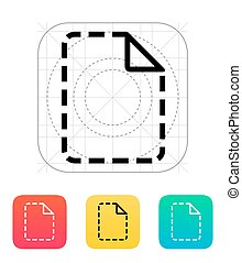 Missing file icon Vector illustration