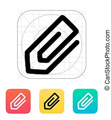 Paperclip icon Vector illustration