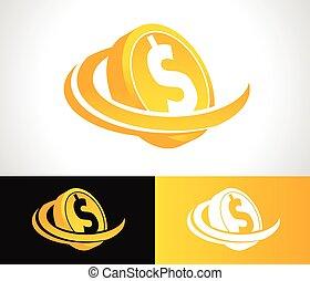 Dollar Coin Logo Icon
