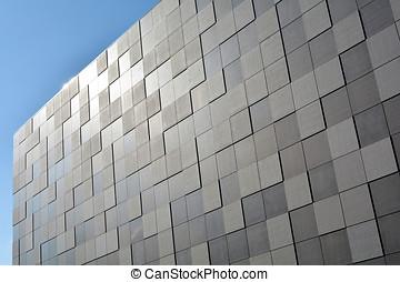 facade of a modern building - Detail of the facade of a...