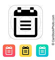 Notepad with spiral icon Vector illustration