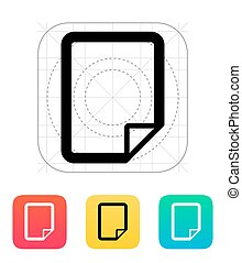 Notepad page flip icon Vector illustration
