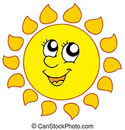Cartoon smiling Sun