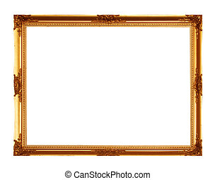 frame - Old picture frame isolated on white background