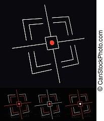 Crosshair, aim, target, targeting vector