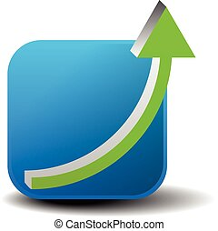 Arrow climbing up Growth, achieve, increasing vector