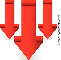 Red downward arrows