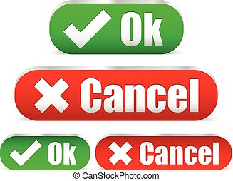 Ok and cancel buttons