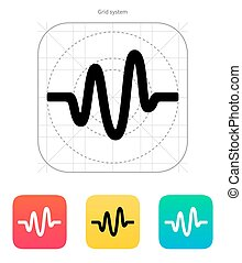 Sound wave icon. Vector illustration.