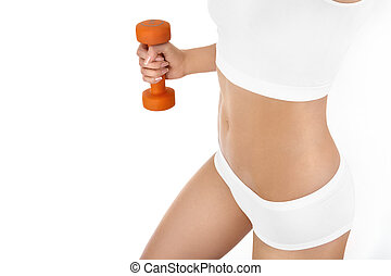 Vigorous training - Close up training of muscles of the...