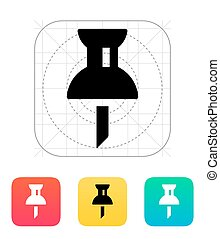 Mapping push pin icon.