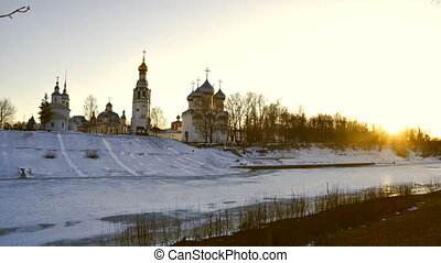 Vologda - Sunset in the city of Vologda. Russia