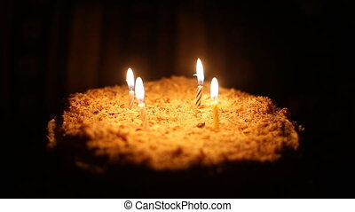 Happy birthday cake, 4 candle