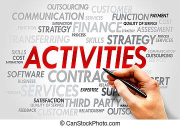 ACTIVITIES word cloud, business concept