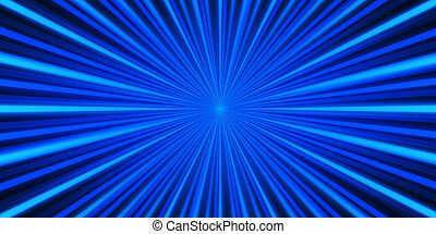 Blue rays background - Widescreen blue background with a...