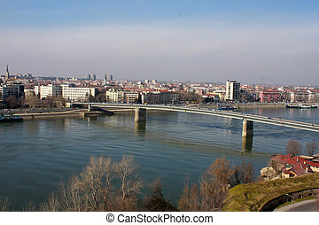 Novi Sad, Vojvodina, Serbia - Panoramic view of Novi Sad,...