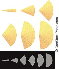 Spreading shapes, slices Radiowave, segments or semicircle...