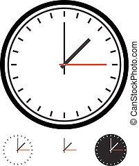 Clock, clockface vector. Time, schedule vector      Clock, clockface vector. Time, schedule vector
