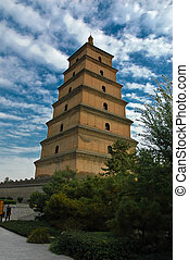 Chinese old pagoda. - Great Wild Goose Pagoda is ancient...