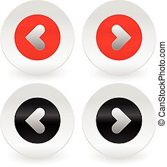 Stylish left and right arrows vector icons Stylish left and...