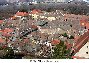 Novi Sad, Serbia - View of the old roof in Novi Sad, Serbia...