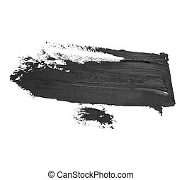 black brush strokes oil paint