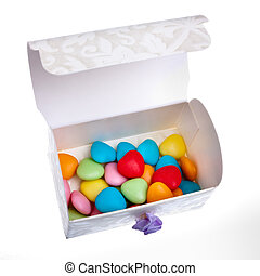 Wedding favour - Small Wedding favour chest of multicoloured...