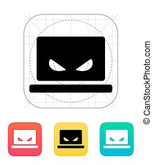 Spy laptop icon.