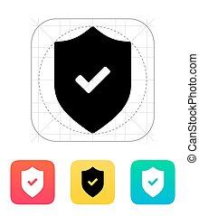 Accept shield icon