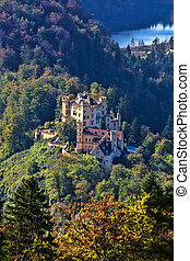 Hohenschwangau castle in Bavaria, Germany - Famous...