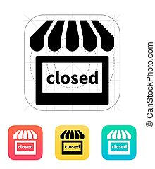 Shop closed icon.
