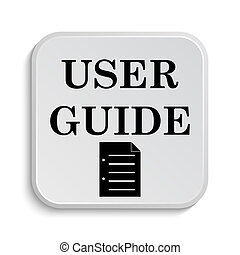 User guide icon. Internet button on white  background.