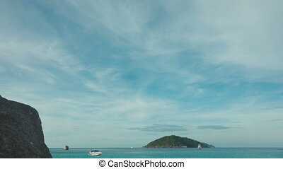 Seascape - PHAN NGA, THAILAND - NOVEMBER 24, 2014: Beach of...