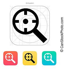Magnifier crosshair icon.