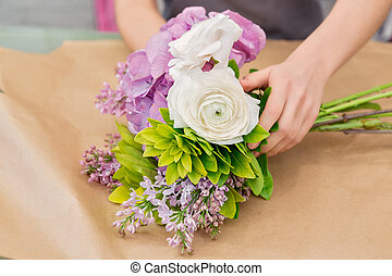 Florist work with flowers - Beautiful creations for all...