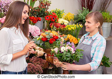 Choosing the right bouquet - What a hard choice. Guest of a...