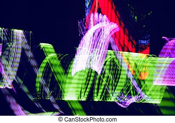 Abstract colorful night lights background
