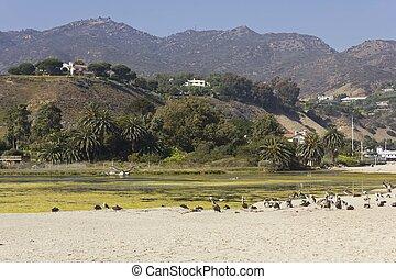 Malibu hills landscape - MALIBU, USA - AUGUST 16 2013:...