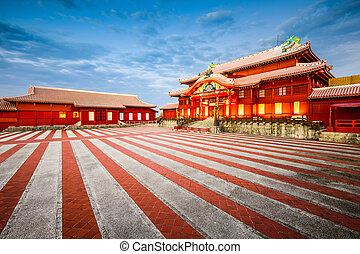 Shuri Castle in Okinawa - Okinawa, Japan at historic Shuri...