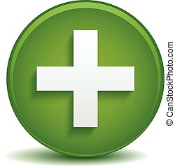 Green cross concept for health care, first aid