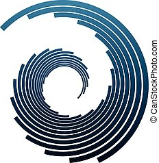 Concentric circles abstract shape in vector format