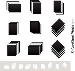 Paper Stacks, Sheets Symbol Set