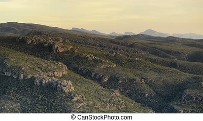 The Grampians Zoom Out - Slow long zoom out shot of The...
